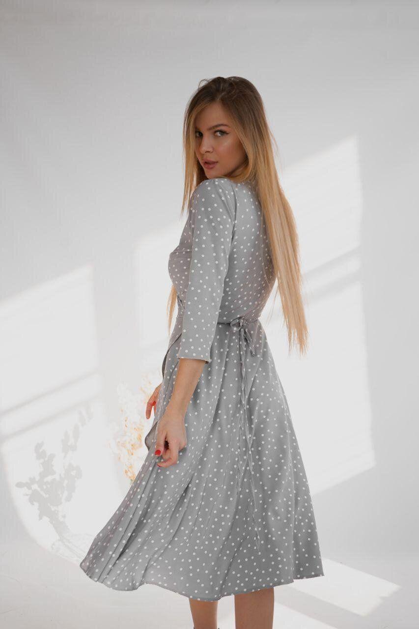 платья миди с рукавами летние